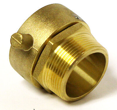 """1-1/2"""" NST (NH) Female Swivel x 1-1/2""""  Male NPT Fire Hose Hydrant Adapter Snoot"""