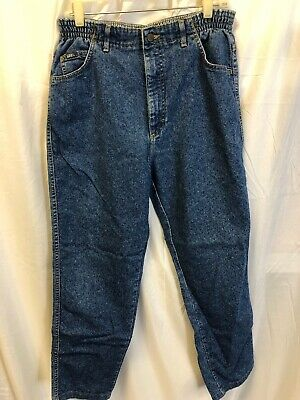 LEE RELAXED FIT Womens AT THE WAIST BLUE Jeans Pants SIZE 14 MED - Stretch