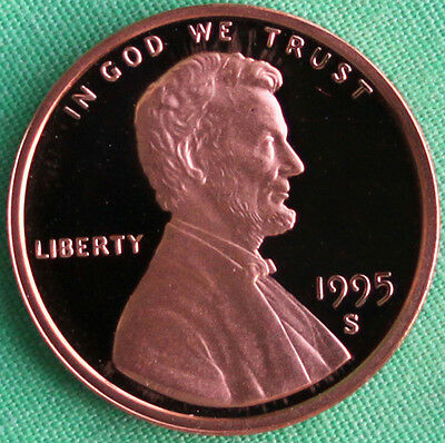 1995 S Lincoln Penny One-Cent Proof U.S. Mint Coin 1c from Proof Set