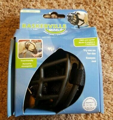 BaskerVille Ultra Muzzle for Dogs - Size 1  Extremely Tough Durable