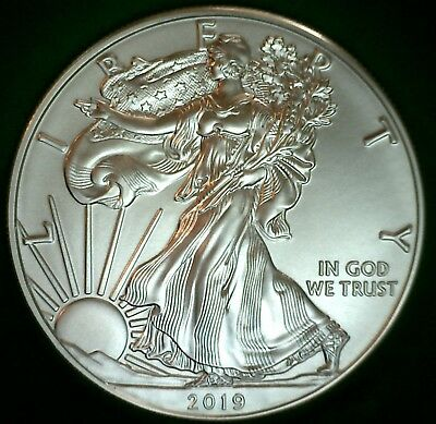 2019 BU American Silver Eagle One Dollar Uncirculated ASE US $1 Coin