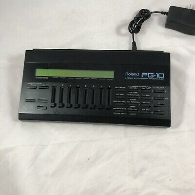Roland PG-10 LINEAR SYNTHESIZER PROGRAMMER W power supply D-10 D-20 D-110 GR-50