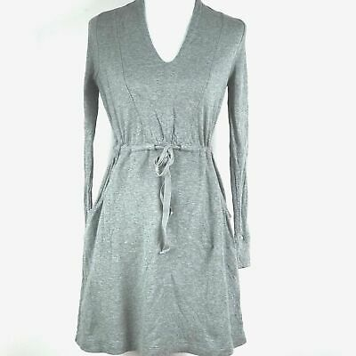 3a73ca0dc1ad Saturday Sunday Anthropologie Size Small Tunic Dress Gray Long Sleeves Tie  Waist