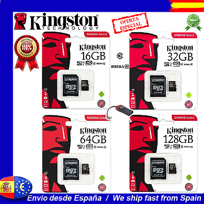 Tarjeta Kingston MicroSD 32GB 64GB 128GB 256 GB Canvas Memoria Micro SD