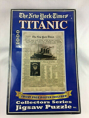 The New York Times Newspaper Titanic Sinks 1000 Pc Jigsaw Puzzle - NEW/ SEALED -