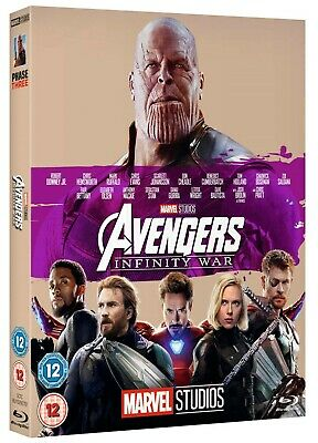 AVENGERS INFINITY WAR MARVEL BLU RAY limited edition Phase 3 cover