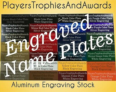 NAME PLATE .75 x 3 Metal tag custom laser engraving Tag plaque FREE Proof