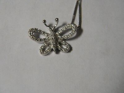 6e1277ee6ae GUCCI BUTTERFLY DESIGN 18K White Gold Diamond Necklace -  700.00 ...