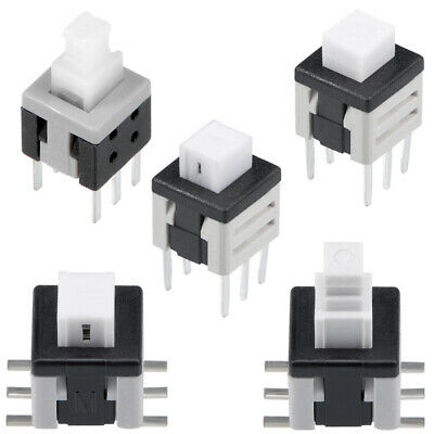 PCB DIP / SMD SMT Mounting Tact Tactile Push Button Switch Latching 6 Pin