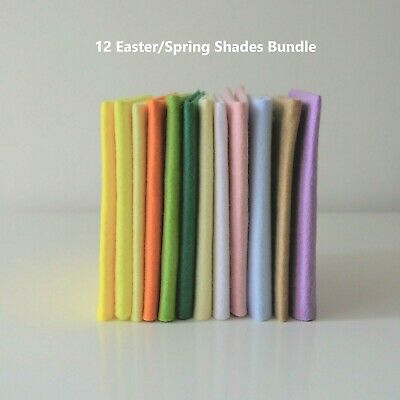 Easter Spring Shades Selection | Wool Mix Felt | 12 Sheets | Size Options