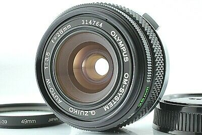 [ MINT ] OLYMPUS OM-SYSTEM G.ZUIKO AUTO-W 28mm F/3.5 lens f/s from JAPAN