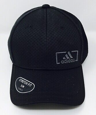 861dd404 ADIDAS MENS AMPLIFIER Stretch Fit Climalite Hat Cap Black S/M New