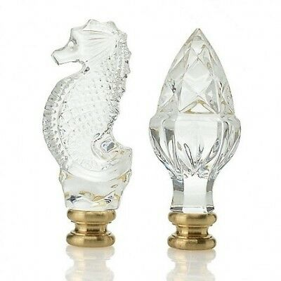 WATERFORD Acorn and Seahorse Finial Finials set of 2 New In Box #40032254