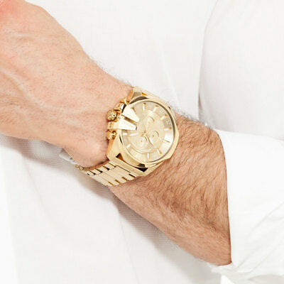 Diesel Men's Watch DZ4360 Mega Chief Gold Ion-Plated Stainless Steel Chronograph