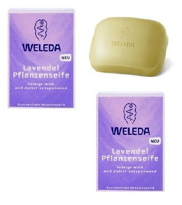 2x Pack WELEDA Lavender Scented Vegetable Soaps - 100 g each *GERMANY*