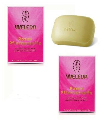 2x Pack WELEDA Roses Scented Vegetable Soaps - 100 g each *GERMANY*