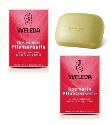 2x Pack WELEDA Rosemary Scented Vegetable Soaps - 100 g each *GERMANY*