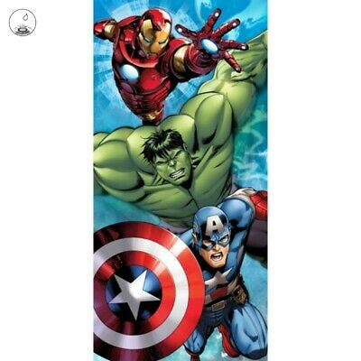 brand new 435c2 4f18d Marvel Avengers Iron Man Hulk Captn America Beach Towel Pool Bath Cotton