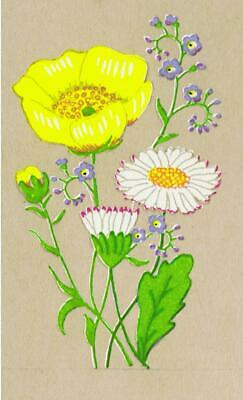 10 BUTTERCUP & DAISIES Wild Flowers Transfer DECALS (Small) Craft Decoration