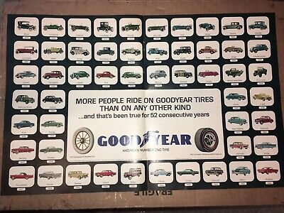 1967 13x21 Goodyear Tires Centerfold 52 Consecutive Years Original Print AD *NM*