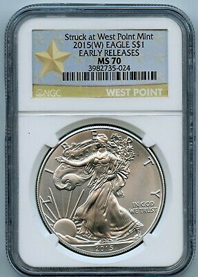 2015-W NGC MS70 Early Release American Silver Eagle $1