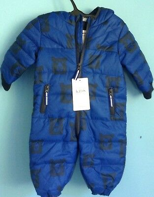 BNWT M&S BABY BOYS SNOWSUIT AGE 3-6 months, COSY BLUE, BEARS