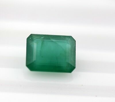 4.06 Ct Natural Emerald Loose Octagon Cut Zambian No Heat Green Color Gemstone