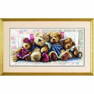 "DIMENSIONS GOLD ""A ROW OF LOVE""CROSS STITCH KIT  Kreuzstich-Stickpackung 46x23 C"