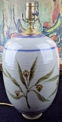 Firemouth Pottery Lamp Studio Pottery Bill Karaffa Signed Hand Thrown Ceramic