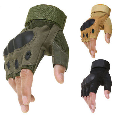 Black Russian Army Military Tactical Half Finger Gloves «RAGE» SPLAV Olive