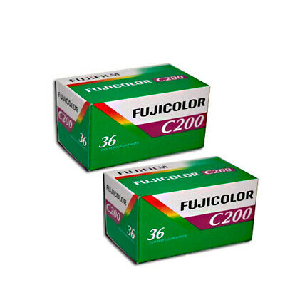 2 Rolls Fujifilm FujiColor C200 35mm-36Exp 135-36 Color Print Film Fresh 2022