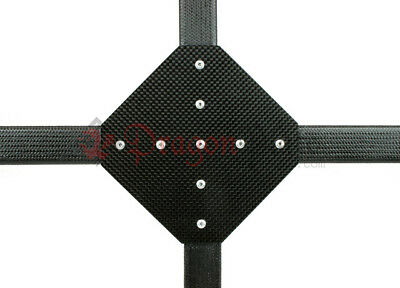 "Dragonplate 1"" Square Tube Carbon Fiber Gusset 90 Degree Cross - FDPGK-S*1-CROSS"