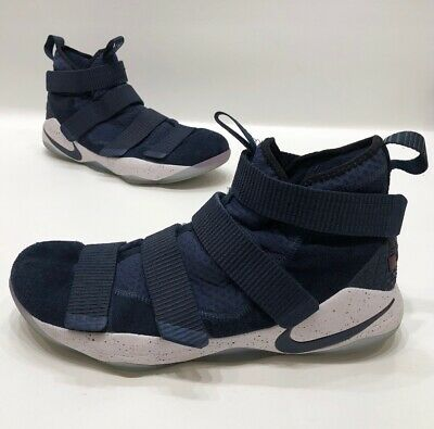 08617c34253d1 Nike Lebron James Soldier Xi College Navy Blue Mens Basketball Shoes Size 13
