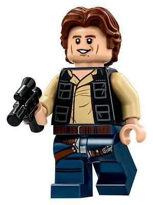 LEGO Star Wars Minifigure Han Solo & Blaster Death Star 75159 **Rare** **New**
