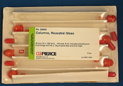 Pk/6 Pierce Reusable Glass Columns 8mL 10um Disc #20055