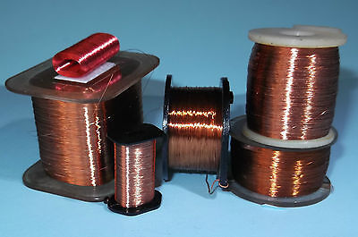 Enamelled copper wire  for magnet actuator, coils 0.02 to 0.2mm diameter