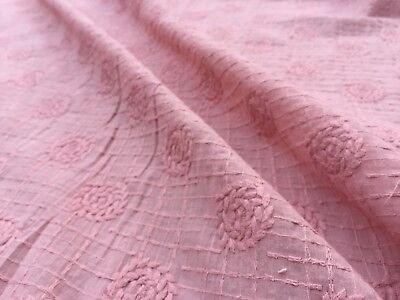 per metre /'Candice/' Ivory dress fabric Broderie Anglaise on cotton lawn