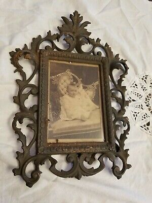 Antique Victorian Ornate Brass Picture Frame
