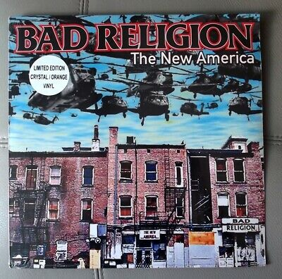 BAD RELIGION -The New America Colored Limited Orange Crystal LP Rock Sealed New