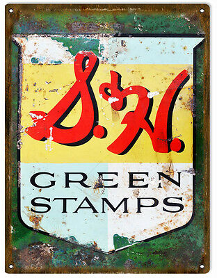 Nostalgic Reproduction S&H Green Stamps Sign