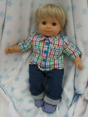 American Girl Bitty Baby DOLL, PLEASANT COMPANY Blonde Boy, OUTFITS DIAPERS SOCK