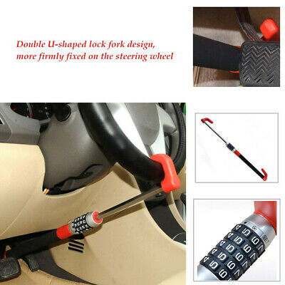 Car Anti Theft Steering Wheel U-shaped Lock Van Security Device Clutch Lock