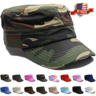 CASTRO CADET CAP Military Army Cotton Hat Patrol Baseball Womens Mens  Distressed