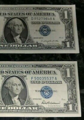 1957 Circulated One Dollar $1 Silver Certificates