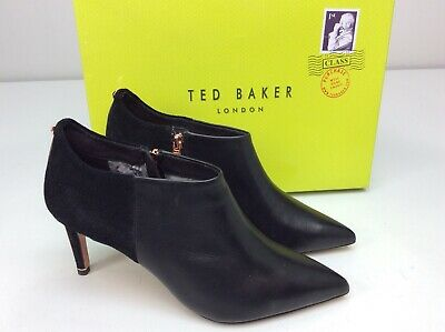 24d7f30efba5 Ted Baker Womens Akasha 2 Black Leather Ankle Bootie Boots Size EU 40 US 9.5
