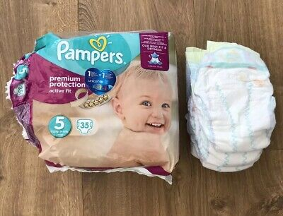 Pampers Nappies Premium Protection Active Fit Size 5 Pack of 35 - Pack Open