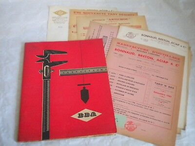 Vintage catalogue Tools hardware and measuring devices BBA 1962 plus paperwork