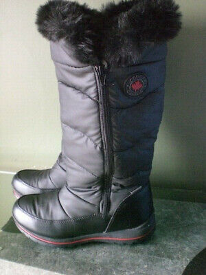 21c3a593727f4 Cougar Canada Bistro Waterproof Zip Up Womans Tall Boot Sz 10 M Black  EXCELLENT