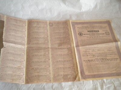 Vintage share certificate Stocks Bonds railway Moscow kiev voronege 1914