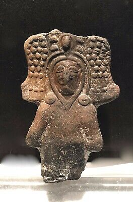 Pre Columbian Pottery Shaman Figure Jama-Coaque Authentic 500 Bc-500 Ad